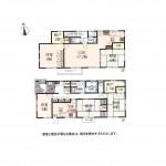 ゆとりの3DK+S+2LDK+Sの2世帯住宅+カースペース2台(間取)